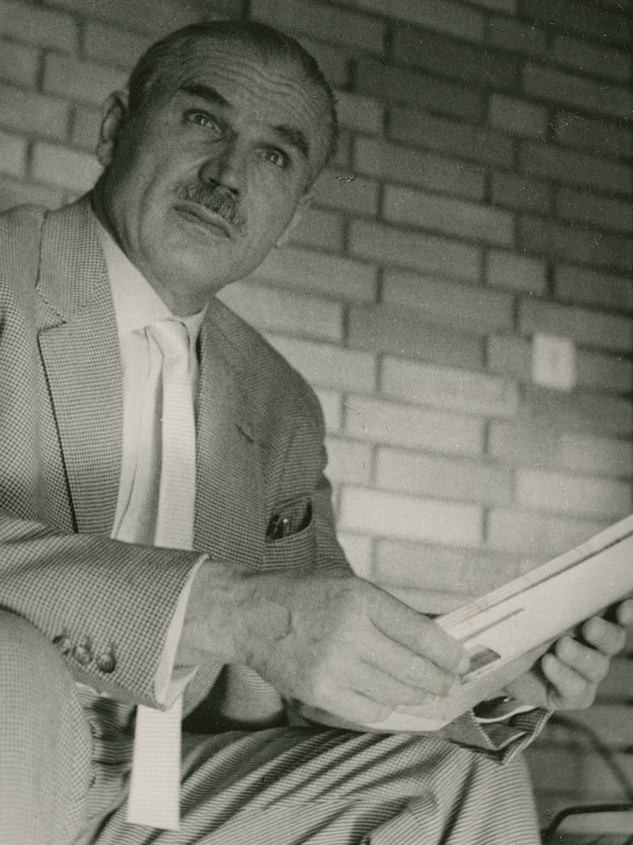 Ernst Neufert in Darmstadt in the 1950s